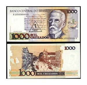 Brazil, 1989, Brazil, 1 Cruzado Novo on 1000 Cruzados Banknote, UNC