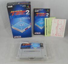 Super Famicom Fire 2 Pro Wrestling Game Complete Box Nintendo Japanese Import