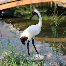 Realistic Life-size Red-crowned Crane Bird Garden Ornaments Outdoor Figurine