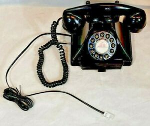 GPO Carrington Push Button Telephone in Black Retro Style Tested Working VGC