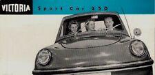 Victoria 250 Sports 1957-58 UK Market Foldout Sales Brochure Spatz