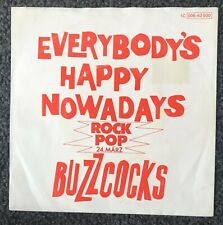 "Buzzcocks Everybody's Happy Rare Rock Pop Germany 7"" Diff Ps Punk Sex Pistols"