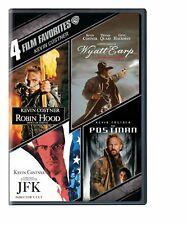 KEVIN COSTNER 4 FILMS - ROBIN HOOD / WYATT EARP / JFK / The POSTMAN  DVD R1 NEW!