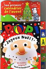 POPI N° 328 * 2013 * Père Noël Calendrier Jeux  Imagier jeune enfant 1 à 3 ans