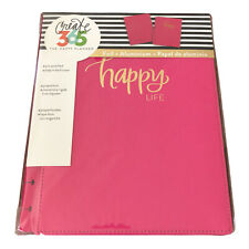 The Happy Planner Classic Size Snap In Hard Cover Happy Life Pink Withgold Foil