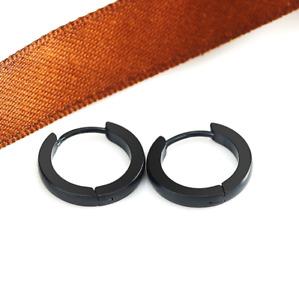 Women Men Stainless Steel Small Hinged Hoop Huggie Ear Earrings 7/9/10/12/14MM
