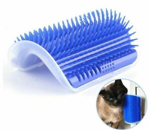 Pet Brush Corner Cat Play Toy Scratching Arch Self Grooming Cats Wall Scratcher