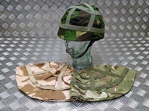 Genuine British Army MTP DPM DPP Camo Cover With Military Style Training Helmet