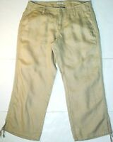 *NWT* OLD NAVY WOMENS BEIGE WIDE LEG LOW WAIST DESIGNER CAPRI PANTS SIZE 4 J246