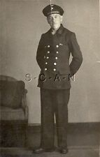 WWII German Navy RPPC- Kriegsmarine- Sailor- Double Row of Buttons- Ribbon- Hat