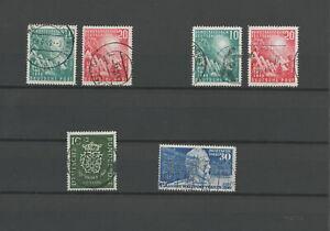 Bund BRD aus 1949 / 1950 gestempelt 111 - 112, 116, 121