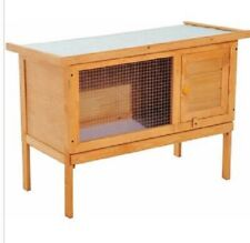 Rabbit Hutch Wooden Offers Safe Sturdy and Comfortable Living Space Slide Tray