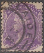 (STA34) 1868 SA 2d violet QVIC used (A)