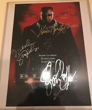 1998 Authentic Blade Cast Signed By 3 10x8 Autograph Picture COA Movie Signature