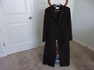 Le Suit Brown Polyester Blend Pant Suit Women Size 16 Inseam 32
