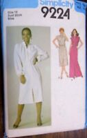 SIMPLICITY sewing pattern no.9943 Ladies DRESS size 14  Vintage
