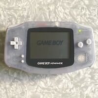 Nintendo Game Boy Advance Clear Glacier Handheld TESTED Gameboy AGB-001