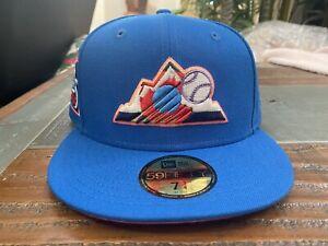 Colorado Rockies 25th Anniversary Blue Multi Serape UV New Era Fitted hat 7 3/4