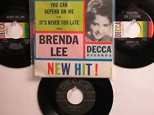 LOT OF 4 ' BRENDA LEE ' HIT 45's+1PS[You Can Depend On Me] THE 50's&60's!
