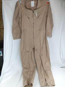 US Military Flight Suit CWU-27/P Flyers Desert Tan 52L Air Force Navy USMC Pilot