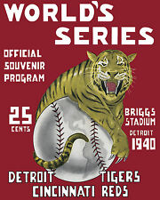 1940 World Series Poster - Reds vs Tigers - 8x10 Color Photo