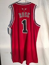 fb3f9741ca5 Adidas Swingman NBA Jersey CHICAGO Bulls Derrick Rose Red sz 3X