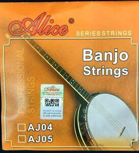 Alice Steel AJ05 Banjo Strings - 5 String Set