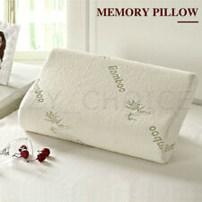 Luxury Bamboo Contour Pillow Anti Bacterial Memory Foam Fabric Fibre Cover AU