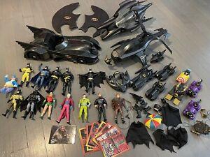 1986 - 1992 Batman Lot vehicles characters accesories plus extras Vintage!!