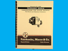 Fairbanks Morse Magneto Instruct & Parts Manual for FM-JF2B7  Mags  *429