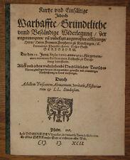 1592 Strassburg Strasbourg Tuisco Alemannus Achilles Kapitelstreit Theologie
