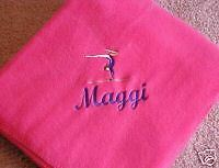 Fleece Blanket,Gymnast Design,Embroidered/Person alized