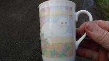 otagiri Cat at window Coffee Cup Mug Curtis-Swann Japan KITTY Tea porcelin