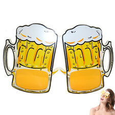 Novelty Beer Goggles Yellow Funny Gift Sunglasses Stag Night Hen Party Festival