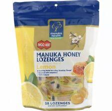 NEW ZEALAND Manuka HEALTH Honey MGO 400+ LEMON Lozenges Gluten Free  Exp 7/22