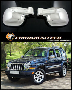 Chrome Mirror Covers for 2002-2007 Jeep Cherokee/ Liberty (KJ) Brand New 1 Pair