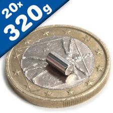 20 NEODYM STAB MAGNETE D5x15 mm LANG NdFeB N48 RUND AXIAL HAFTKRAFT 1,1 KG
