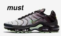 "Nike Air Max Plus TN  ""Black/Anthracite/Court Purple/Green"" Men's Shoe All Sizes"