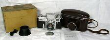 Kiev 3A + Jupiter 8 lens 2/50 Soviet Zeiss Ikon Contax III+BOX+manual+case...