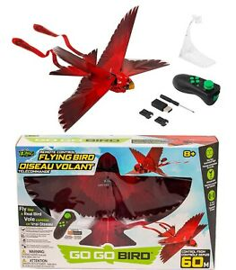 Zing Go Go GOGO Red Bird Remote Control Flying Toy Extra Lithium Battery ✅✅✅✅✅✅✅