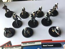 WOTC STAR WARS MINIATURE BATTLES LEGION REBEL FLEET TROOPERS  X 10 LOT A