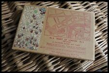 Vintage Jig-Saw Map Puzzle No.6 Heart Of London A Chichester Jig-Shaw Map Puzzle