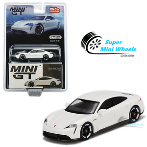 Mini GT 1:64 Porsche Taycan Turbo S (White) #218