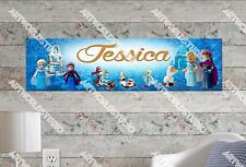 Personalized/Customized Lego Frozen Name Poster Wall Art Decoration Banner