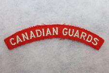 Original WW2 Royal Canadian Guards Cloth Uniform Flash (Patch)
