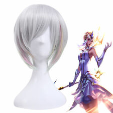 LOL Elementalist Lux Women's Short Silver Highlights Straight Cosplay Full Wig