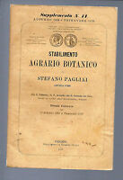 Stabilimento Agrario-Botanico STEFANO PAGLIAI FIRENZE - catalogo