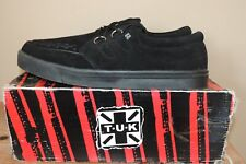 NIB MENS TUK CREEPER LOW SOLE BLACK SUEDE LEATHER A6061 SNEAKERS SHOES SZ 13