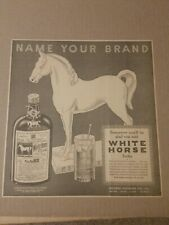 1936 White Horse Blended Scotch Whisky Newspaper Ad