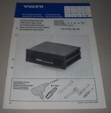 Einbauanleitung Volvo 240 260 340 Auto Radio Verstärker Stand Oktober 1981!